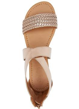 Charlotte Russe Braided Crisscross Flat Sandals