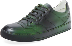 Lanvin Men's Leather Airbrushed Low Top Sneaker