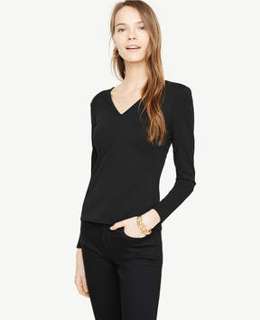 Ann Taylor Double V Top