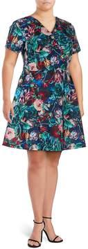 Alexia Admor Women's Floral-Print Fit-&-Flare Dress - Multi Floral, Size 2x (18-20)