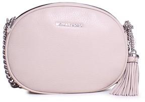 Michael Kors Ginny Medium Leather Crossbody Bag - Pearl Grey - 30H6SGNM2L-513 - AS SHOWN - STYLE