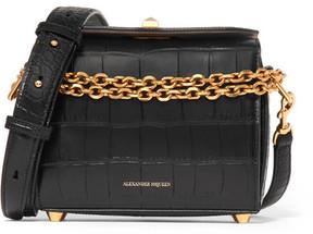 Alexander McQueen - Box Bag 19 Croc-effect Leather Shoulder Bag - Black
