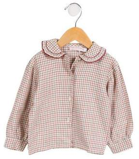 Papo d'Anjo Girls' Check Button-Up Top