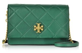 Tory Burch Women's Green Leather Shoulder Bag. - GREEN - STYLE