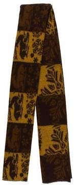 Kenzo Wool Pattern Scarf