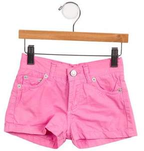 Papo d'Anjo Girls' Lightweight Twill Shorts