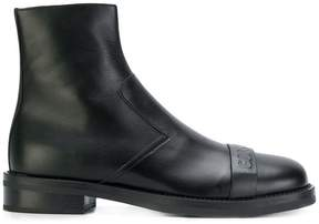 Neil Barrett embossed front ankle boots