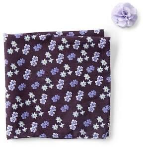 Original Penguin Ullyett Floral Pocket Square & Lapel Pin Set