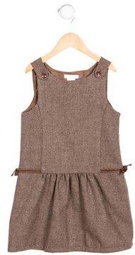 Jacadi Girls' Wool-Blend Tie-Accented Dress