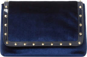 Dune Borriss velvet studded clutch bag