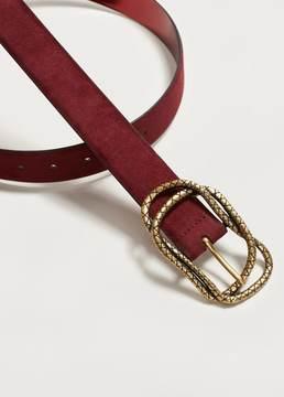 Violeta BY MANGO Embossed buckle belt