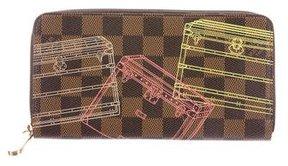 Louis Vuitton Damier Zippy Evasion Illustre Wallet - BROWN - STYLE