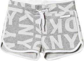 DKNY Grey Branded Jersey Shorts