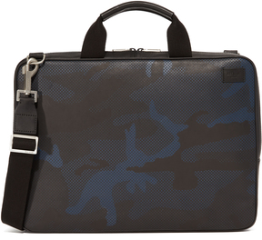 Jack Spade Camo Dot Leather Slim Briefcase
