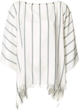 Brunello Cucinelli frayed striped tunic
