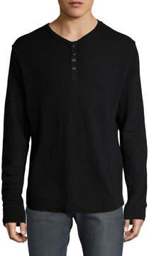 Gilded Age Men's V-Neck Front Button Henley