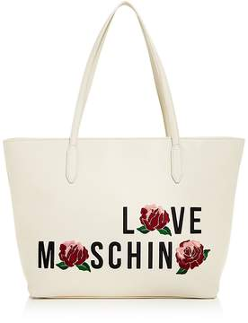 Love Moschino Rose Leather Tote