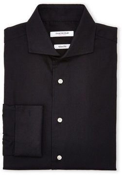 Isaac Mizrahi Black Slim Fit French Cuff Dress Shirt