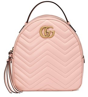 Gucci Women's Pink Leather Backpack. - PINK - STYLE