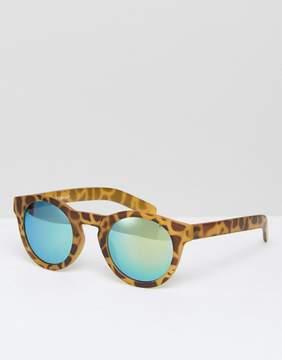 A. J. Morgan AJ Morgan Round Tortoise Sunglasses With Green Lens