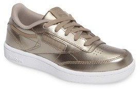 Reebok Girl's Club C Melted Metallic Sneaker