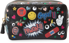 Anya Hindmarch Women's Allover Wink Stickers Make Up Pouch
