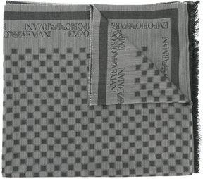 Emporio Armani checked scarf