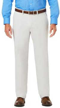 Haggar Men's J.M. Luxury Comfort Classic-Fit 4-Way Stretch Flat-Front Casual Pants