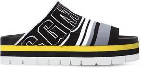 MSGM 50mm Logo Platform Slide Sandals