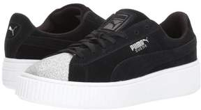 Puma Suede Platfrom Glam Youth | Silver / Black (364921-03) (6-Youth)