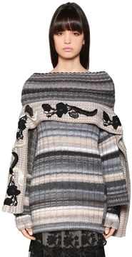 Antonio Marras Flowers Embroidered Wool Blend