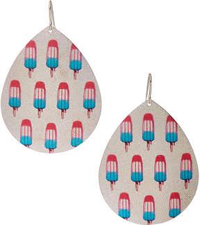 Carole Silvertone Popsicle Oversize Teardrop Earrings