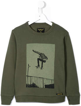 Finger In The Nose skater print sweatshirt
