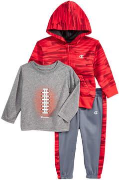 Champion 3-Pc. Hoodie, Football T-Shirt & Jogger Pants Set, Baby Boys (0-24 months)