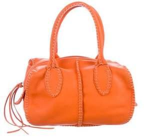 Carlos Falchi Fatto a Mano by Grained Leather Handle Bag