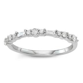 Vera Wang Simply Vera 14k Gold 1/3 Carat T.W. Diamond Anniversary Ring