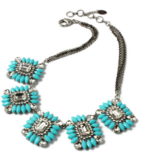 Amrita Singh Turquoise & Austrian Crystal Majestic Necklace