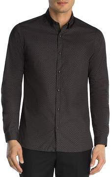 The Kooples Micro Graphics Slim Fit Button-Down Shirt