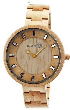 Earth Branch Collection ETHEW2801 Unisex Wood Watch with Wood Bracelet-Style Band