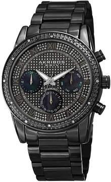 Akribos XXIV Mens Black Strap Watch-A-1040bk