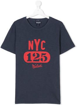Woolrich Kids TEEN NYC logo print T-shirt
