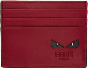 Fendi Red Bag Bugs Card Holder