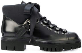 Santoni lace-up fastening boots