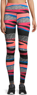 Beyond Yoga High-Waist Striped Leggings