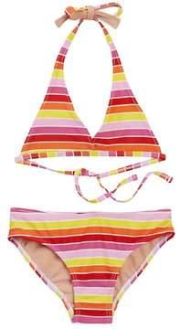 Toobydoo Sun Stripe Bikini (Toddler, Little Girls, & Big Girls)
