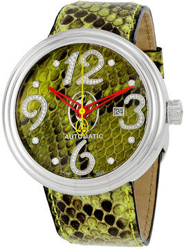 Jacob & co Jacob and Co. Valentin Yudashkin Green Python Diamond Men's Watch