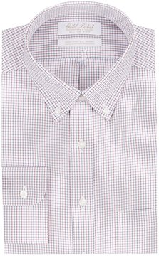 Roundtree & Yorke Gold Label Non-Iron Slim-Fit Button-Down Collar Checked Dress Shirt