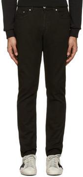 MSGM Black Logo Patch Jeans