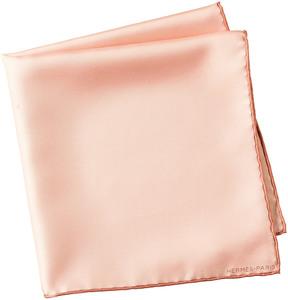Hermes Pink Silk Pocket Square