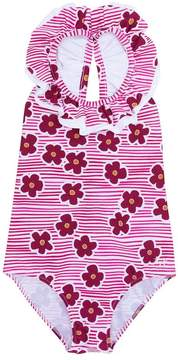 Il Gufo mixed-print swimsuit